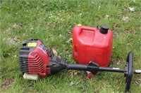 Troy Bilt Gas String Trimmer with Gas Can