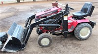 Wheel Horse Garden Tractor w/Kwik Way FE Loader, extra set of duals