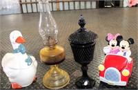 Cookie Jars, Oil Lantern, Tiara