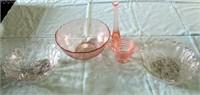 Misc Pink Glassware