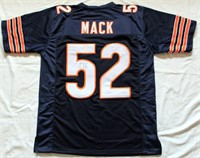 Kahlil Mack #52 Chicago Bears Autographed Jersey w/COA #44884.  Size XL (view 2)