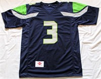Russell Wilson #3 Seattle Seahawks Autographed Jersey w/COA #41390. Size XL (view 1)