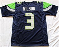 Russell Wilson #3 Seattle Seahawks Autographed Jersey w/COA #41390. Size XL (view 2)