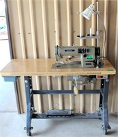 Brother Industrial Sewing Machine, DB2-B735-3 w/rolling stand (view 1)