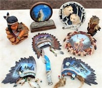 Misc Wolf & Indian Figurines/Wall Deco