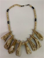 Very Old Bear Tooth and Bone Necklace