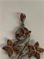 Fine Early Amber Adorned Pendant