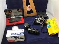 Nikkormat 35mm camera plus accessories