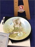 Limoges summer girl plate
