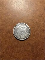 1901 Morgan silver dollar o