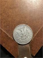 1888 Morgan silver dollar