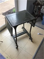 Vintage industrial typing table