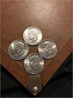 4 clad Ike dollars
