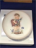 Hummel collectors plate valentine joy 1987