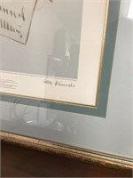 Hummell  limited edition lithograph signed
