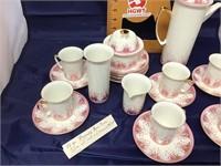 Rhapsody bone china coffee set