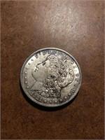 1921 Morgan silver dollar D