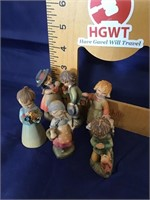 Anri wood carving Group of five