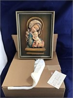 Anari wood carving Virgin Mary and Child