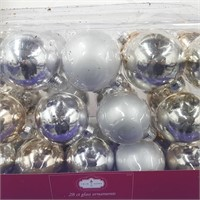 Set of 28 Glass Ornaments