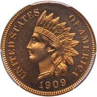 1C 1909 INDIAN. PCGS PR66+ RD CAM CAC