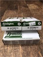 3- boxes 32 Automatic, Remington 71 gr.