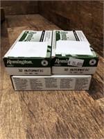4- boxes 32 Automatic, Remington 71 gr.