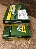 2- boxes Remington 12 Gauge 2 3/4 00 buckshot