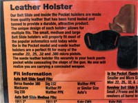 3- Bulldog Side holsters leather, LH