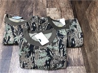 3- long sleeve camo shirts size M