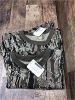 2- long sleeve camo shirts, M - XL