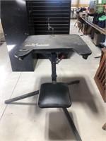 Rifle shooting bench, foldable and adjustable,