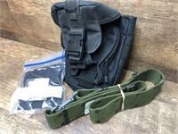 Tactical shoulder bag, web belt, magazine pouch