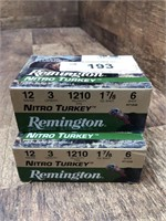 """2- Remington Nitro Turkey 12ga. 3"""" #6"""
