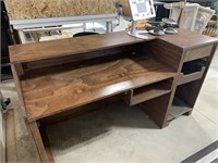 Wooden desk with side storage