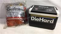 Diehard cooler and blowup Budweiser