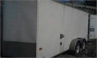 American Hauler enclosed trailer 7x16 w/ ladder rack