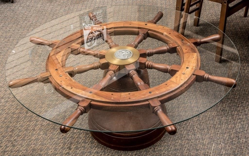 Ships Wheel Coffee Table The K And B Auction Company