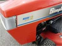 Simplicity Regent Hydro 12 Riding Mower | Dave Bell Auctions LLC