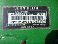 John Deere Mower Deck