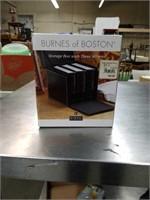 Storage box with three albums