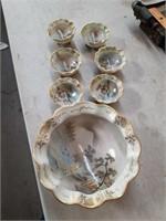 7 PC Asian porcelain bowl set