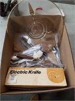 Box of flatware etc