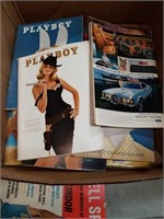 Box of PlayBoy magazines