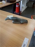 Alaskan soap stone carved whale