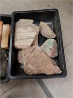 Tub of rocks