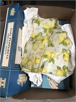 Box of vintage sheets/table covers