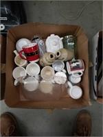 Box of coffee mugs