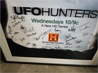Signed UFO Hunters Poster