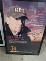 Signed UFO Hunters Poster (Bill)